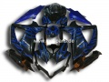 GSX R 600/750 Bj. 08-10 black blue flame